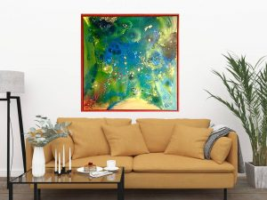 #55 Wunderwelten 100x100 mit Rahmen