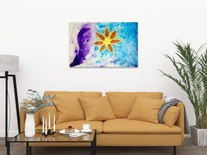 #77 Blütenzart 120x80 mit Glitzereffekt